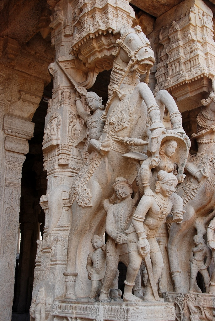 A carved Nayak temple column