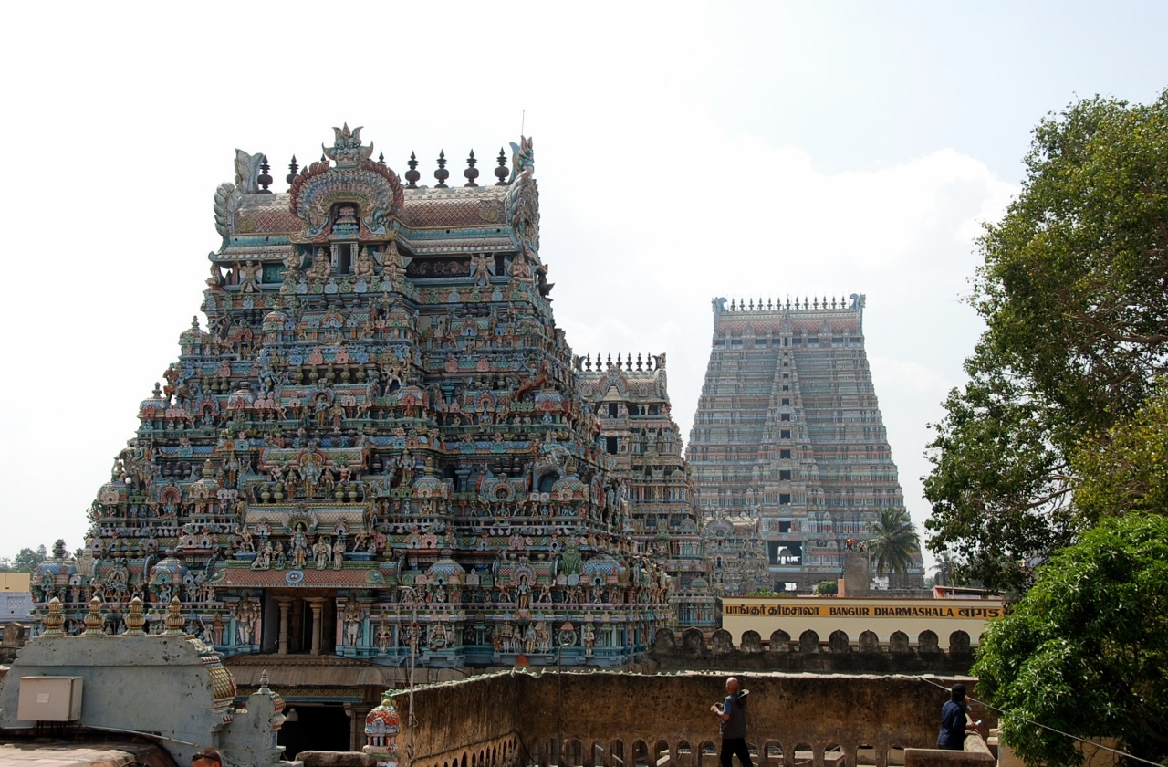 A view of the Ranganathaswamy Temple