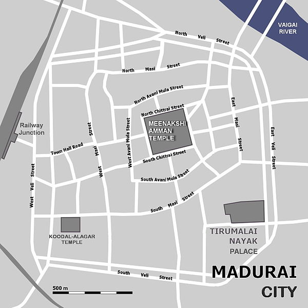 Detail of Madurai urban plan