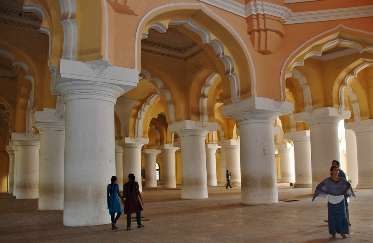 Inside the Thirumalai Nayak Palace