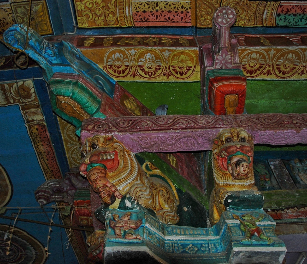 Ramaswamy Temple colored capitals