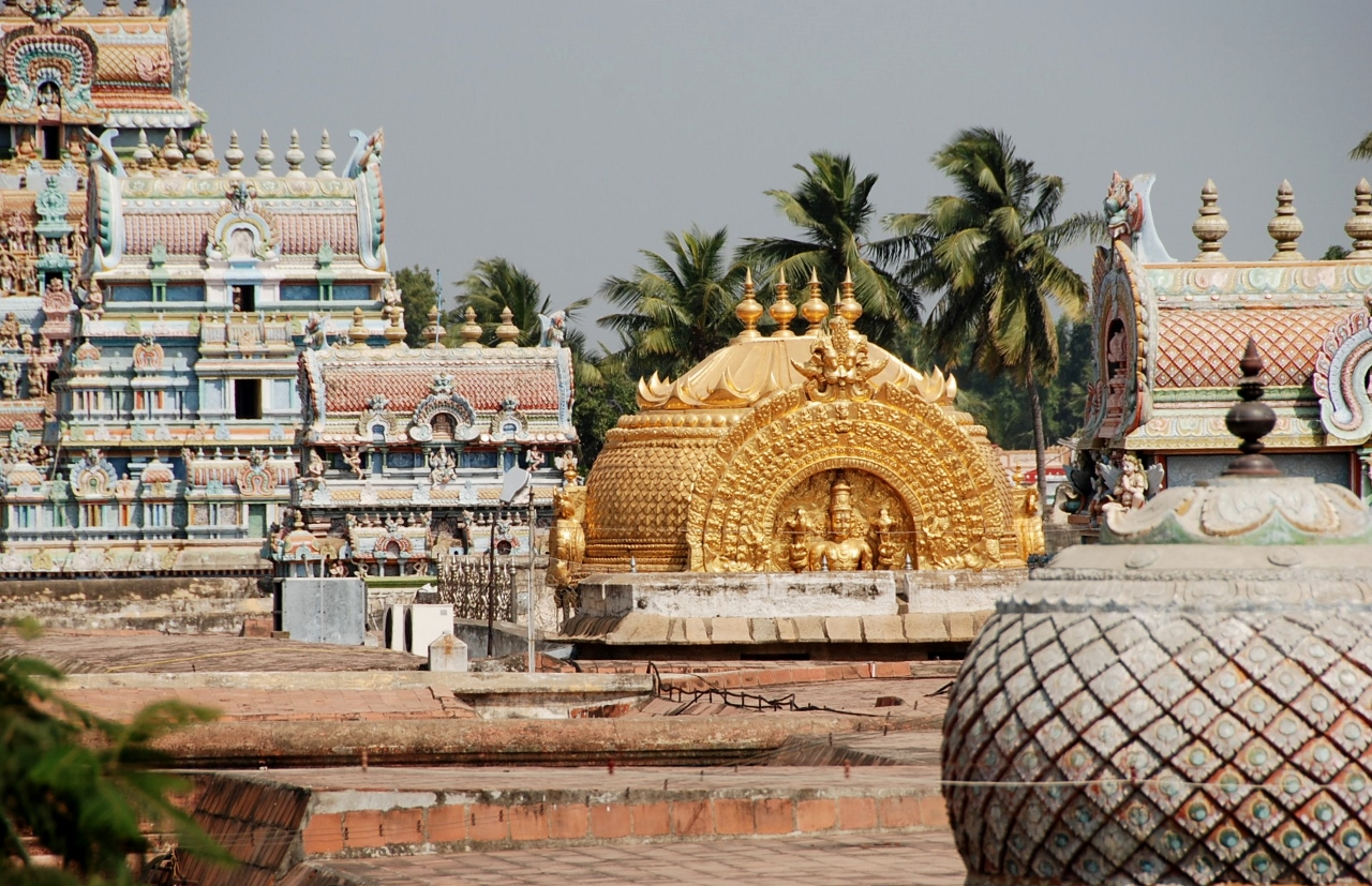 Ranganathaswamy Temple gopurams and the gold dome