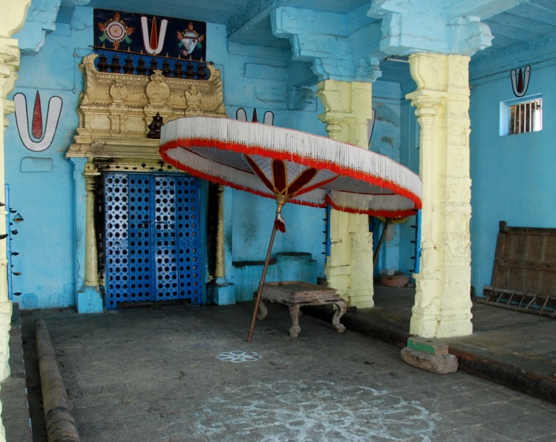 and the parasol for the temple festivals