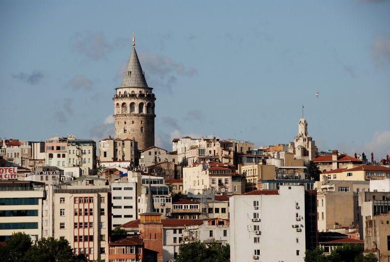 The Galata tower, high on a hill