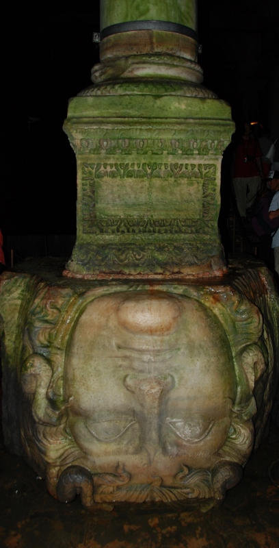 The inverted Medusa head in the Cistern