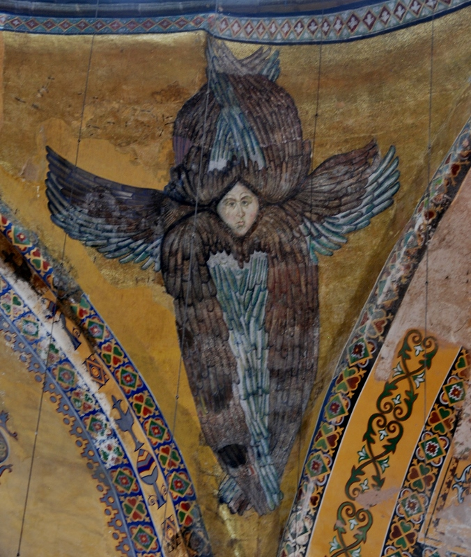 one of the restored Archangels from the main dome
