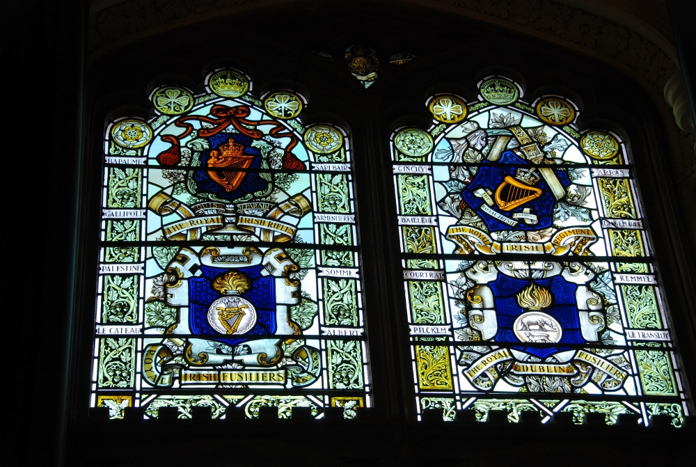 one of Derry Guildhall stained glass windows