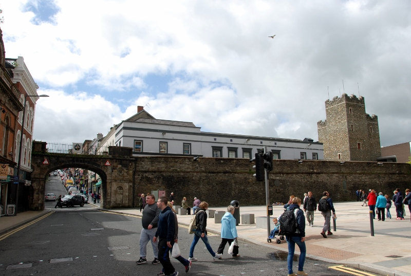 the famous Derry walls and gate