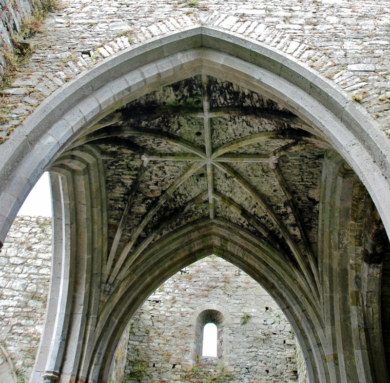 Jerpoint Abbey  vault detail