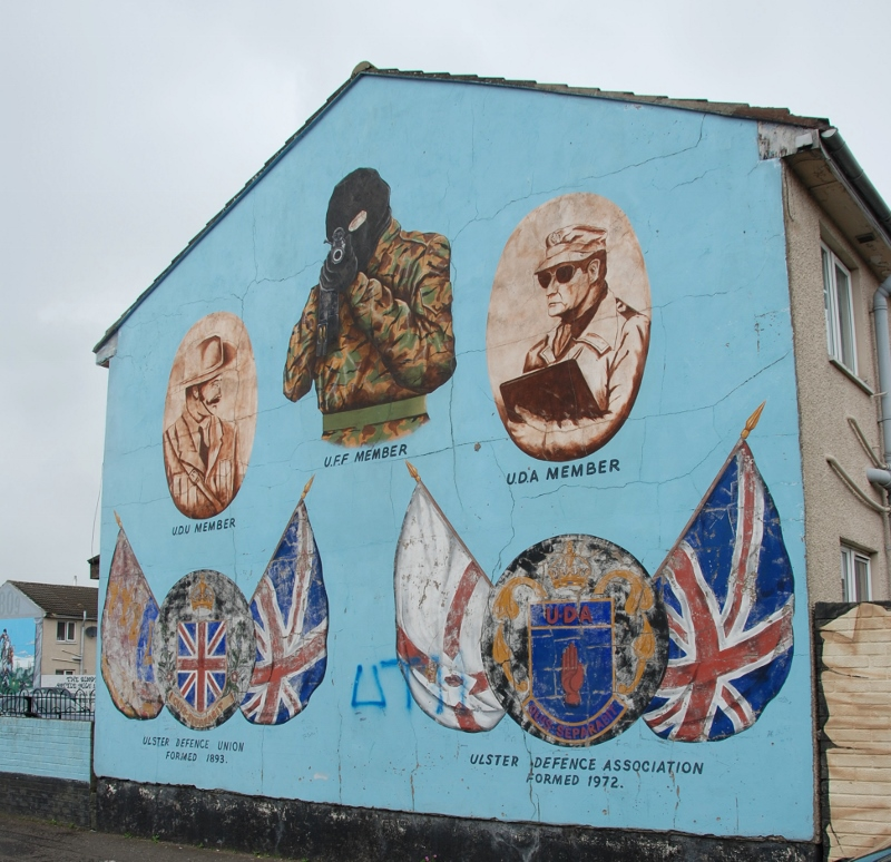 Murals in the Shankill area