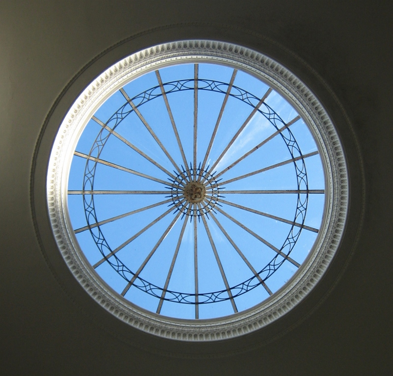 Skylight in rotunda of the Coollattin House in County Wicklow (1807) from where the Wentworth/Fitzwilliam managed their 88,000 acres of Irish lands.