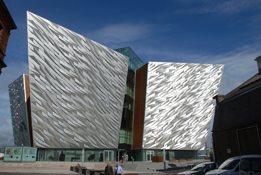 The Belfast Titanic building