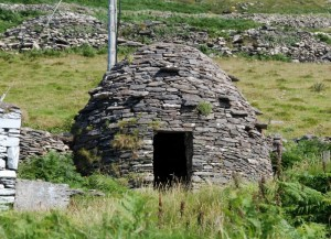 a stone beehive hut in Dingle