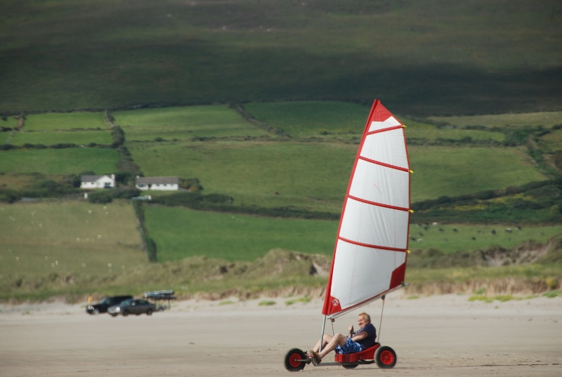 lonely rider on the sand bank