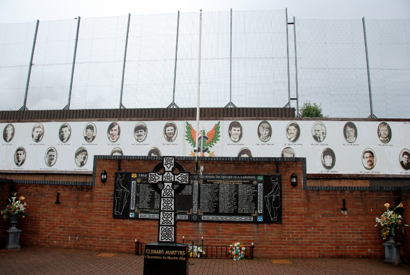 memorial garden in the Falls road area