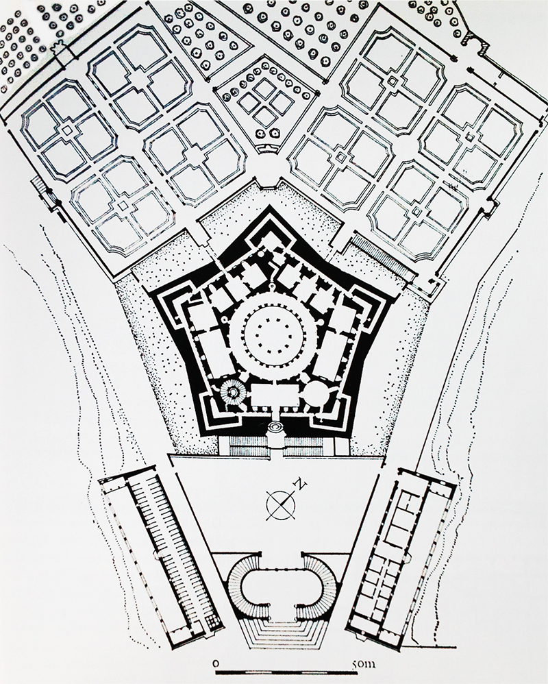 Plan of the Villa Farnese