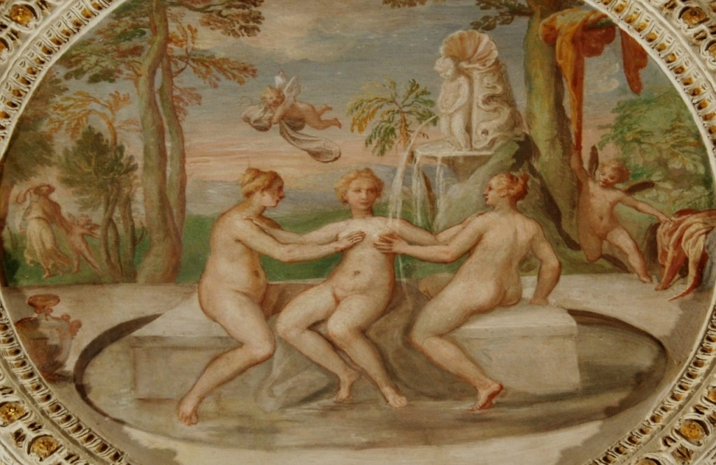 Room of the wallmakers.   The three Graces at the spring after Cupid has stolen their clothes.