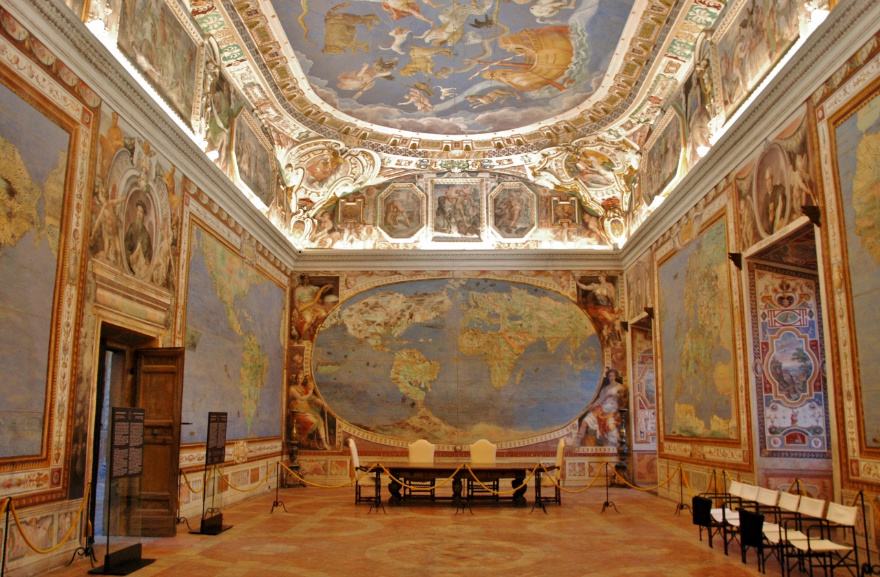 Partial view of the Room of the World Map