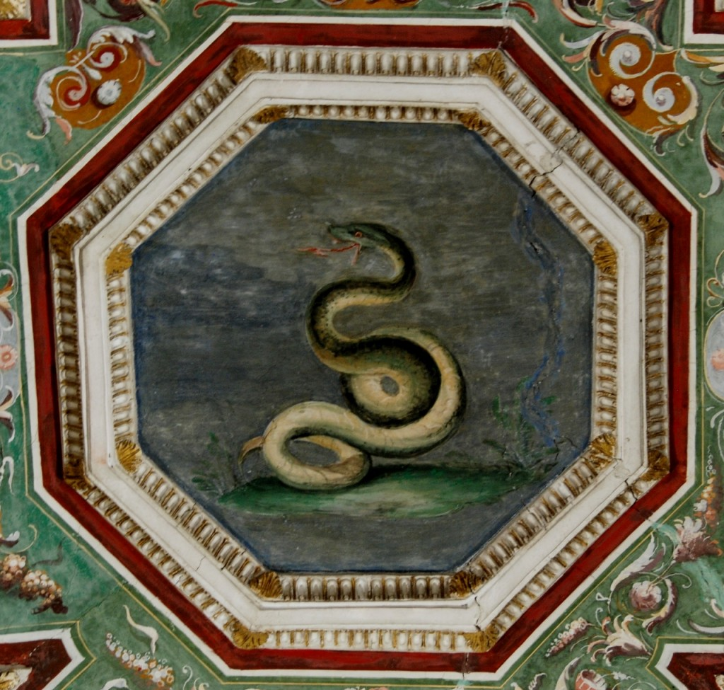 Room of Solitude or the Philosophers.   Detail of the ceiling.