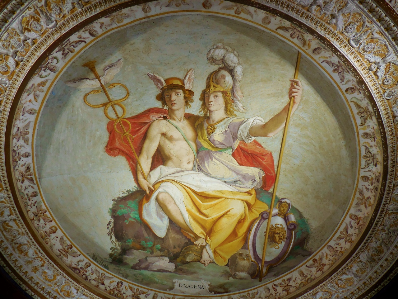 Room of Hermatena.  Mercury and Minerva