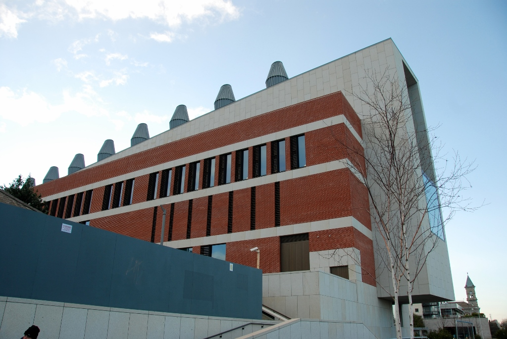Side view of the Lexicon library