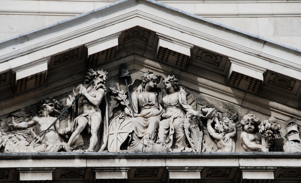 The Custom House front tympanum