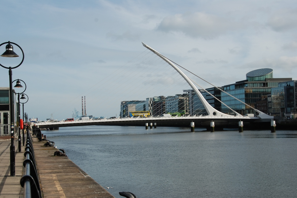 The turning bridge on the Liffey by Santiago Calatrava